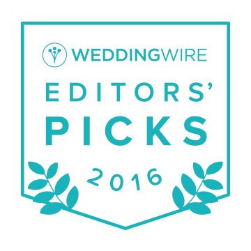 2016 Wedding Wire Editors' Picks badge.