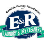 E and R Cleaners logo.