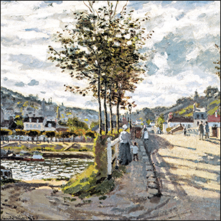 "Monet ""The Bridge at Bougival"" painting."