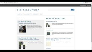landing page of DigitalCurrier digital library
